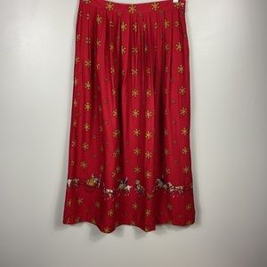 Vintage Horse and buggy midi skirt size 10(s/m)